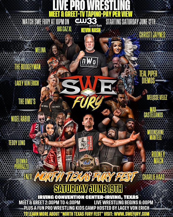"SWE FURY TV'S ""NORTH TEXAS FURY FEST"" PRO WRESTLING EXTRAVAGANZA image"