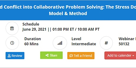 Transforming Anger and Conflict into Collaborative Problem Solving tickets