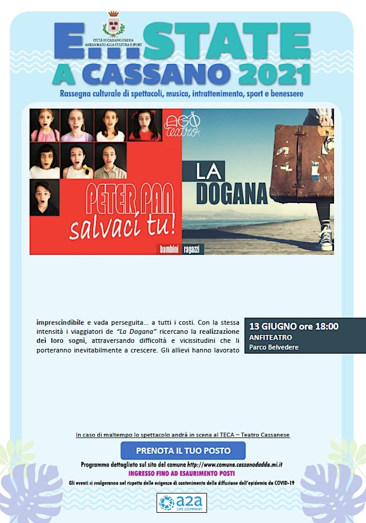 Immagine E...STATE A CASSANO - PETER PAN, SALVACI TU!  e LA DOGANA