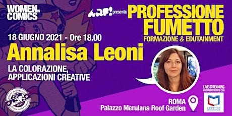WOMEN IN COMICS · Professione Fumetto: ANNALISA LEONI biglietti