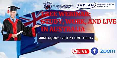 FREE WEBINAR: STUDY AND WORK IN AUSTRALIA tickets