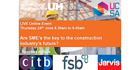 Are SMEs the key to the construction industry's future? tickets