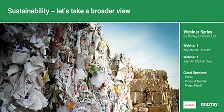 Sustainability – let's take a broader view entradas