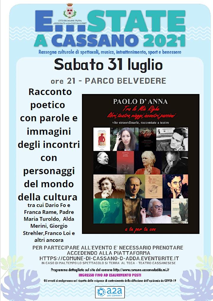 Immagine E...state a Cassano -  Tra le mie righe - Spettacolo al Teca