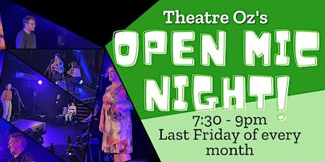 Theatre Oz's Open Mic Night - June tickets
