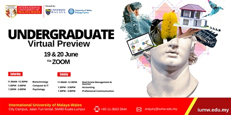 Undergraduate Virtual Preview tickets
