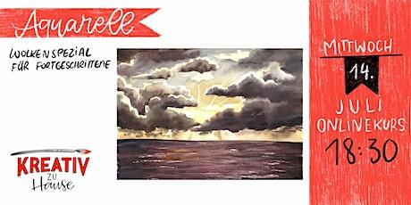 Aquarellkurs Wolken und Sonne - Onlinekurs - Kreativ zu Hause Tickets