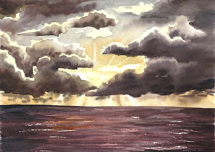 Aquarellkurs Wolken und Sonne - Onlinekurs - Kreativ zu Hause: Bild