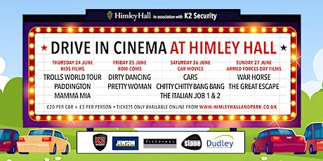 Himley Hall Drive-in cinema - Cars (PG) tickets