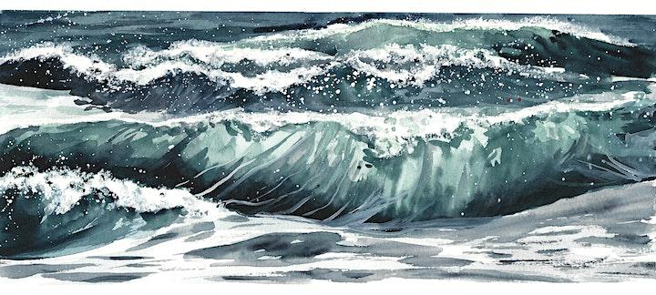 Aquarellkurs Wellen für Fortgeschrittene - Onlinekurs - Kreativ zu Hause: Bild