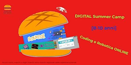 DIGITAL Summer Camp [8-10 anni] Coding e Robotica ONLINE 28/06/21-02/07/21 biglietti