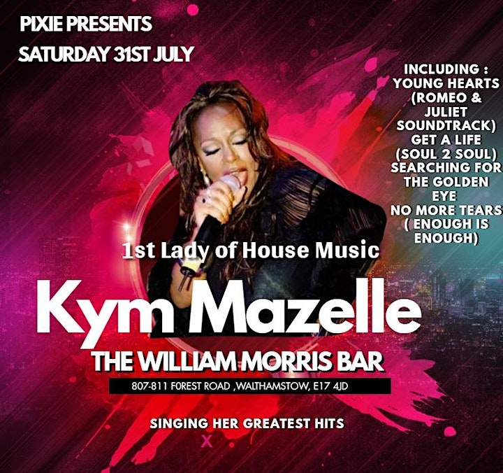 1st Lady of house music Kym Mazelle  live At  The William Morris Bar image