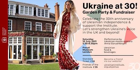 Ukraine at 30! Garden party & fundraiser for Ukrainian Institute London tickets