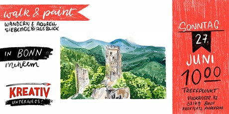Walk and Paint - Wandern und Aquarell Siebengebirge - Kreativ unterwegs Tickets