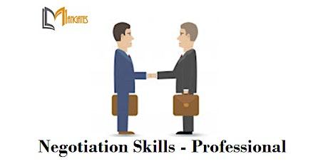 Negotiation Skills - Professional 1 Day Virtual Training in Dublin tickets