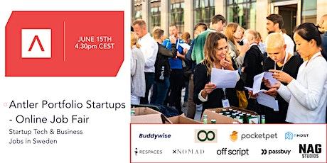 Antler Portfolio Startups - Online Job Fair tickets