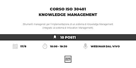 Standard ISO 30401 Knowledge Management biglietti
