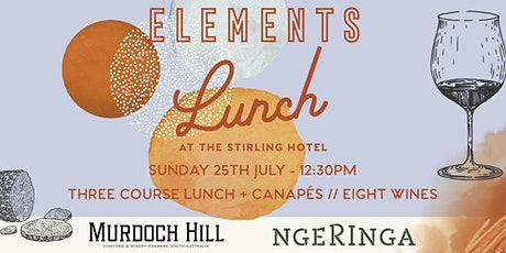 Elements Long Lunch at the Stirling Hotel tickets