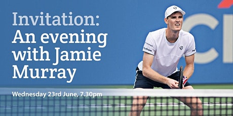 An evening with Jamie Murray: Wednesday, 23rd June at 7.30pm biglietti