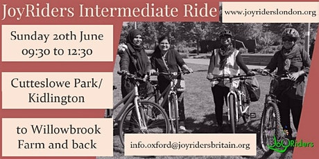 Intermediate ride: Cutteslowe Park/Kidlington to Willowbrook Farm and back tickets