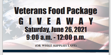 VETERANS FOOD PACKAGE  G I V E A W A Y tickets