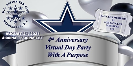 D.C. Nation Fan Club 4th Anniversary Virtual Day Party With A Purpose tickets