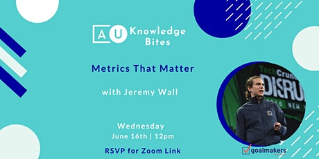 Metrics That Matter with Jeremy Wall tickets