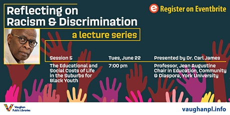 Reflecting on Racism & Discrimination: Education of Suburban Black Youth tickets