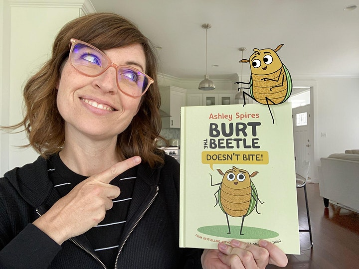 Virtual Book Launch for Burt the Beetle Doesn't Bite! with Ashley Spires image