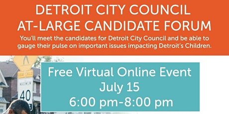 Detroit City Council at Large Candidate Forum tickets