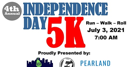 4th Annual  Pearland Independence Day 5K Fun Run and Veterans Walk tickets