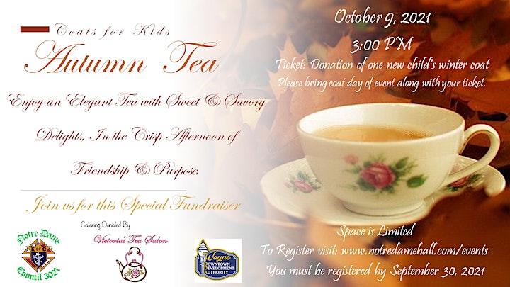 Autumn  Tea - Coats for Kids Fundraiser image