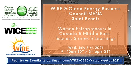 Joint Event: WiRE & Clean Energy Business Council MENA tickets