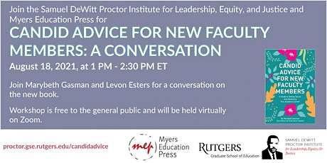Candid Advice for New Faculty Members: A Conversation ingressos