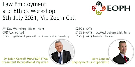 Law Employment and Ethics Workshop tickets