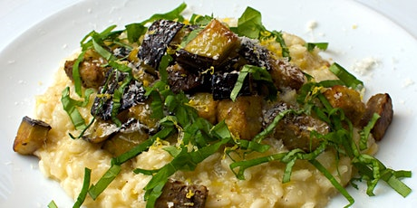 Platewell Vegan Cooking Class l Aubergine Risotto w Basil & Herby Croutons tickets