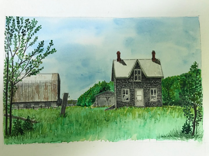Drawing and Watercolour - Buildings with Michelle Minke image