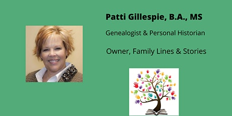 Hidden Stories Discovered in Just Three Documents with  Patti Gillespie tickets