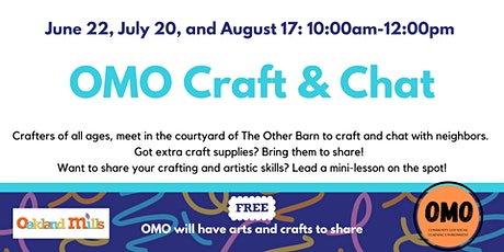 OMO Craft & Chat tickets