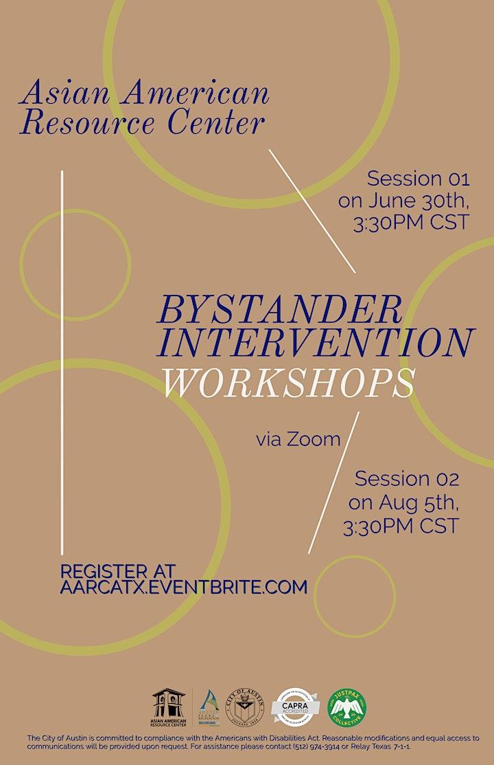 AARC Bystander Intervention Workshops - Summer 2021 image