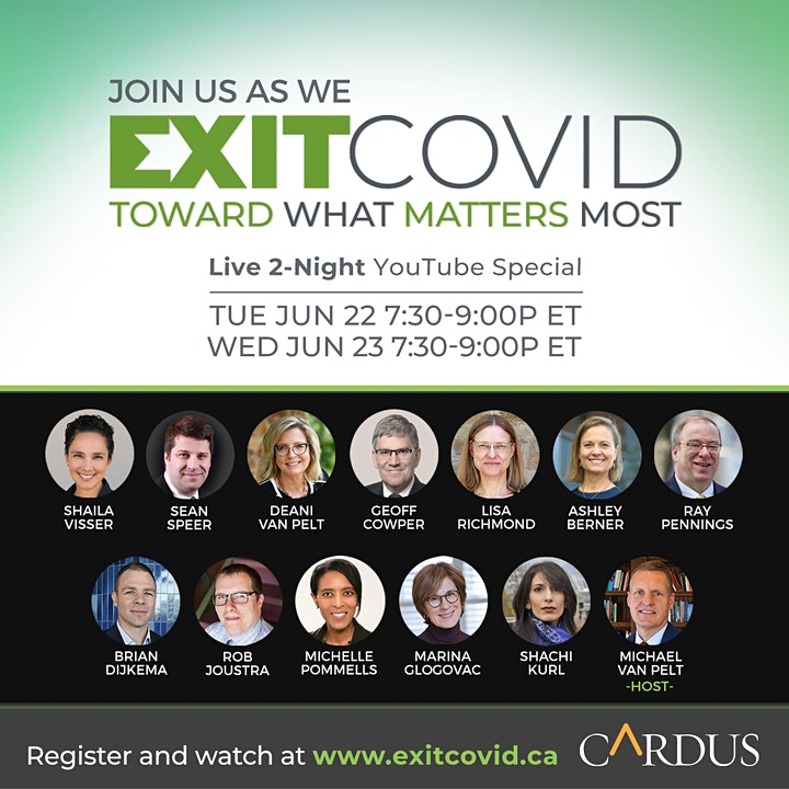 Exit COVID: Toward What Matters Most (Two Night Virtual Event) image
