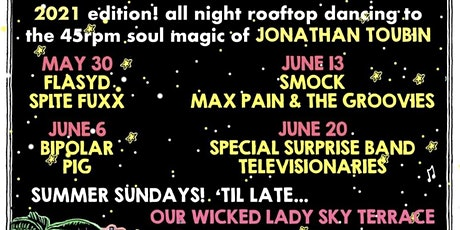 Sunday Soul Scream on the rooftop! w/ Daddy Long Legs, Televisionaires tickets