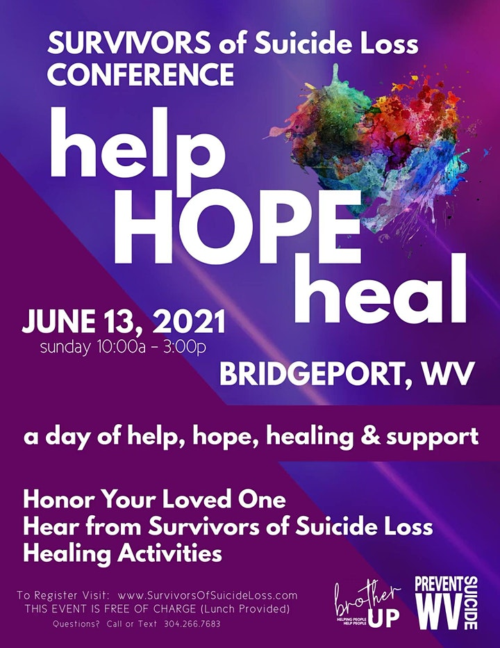 help . HOPE . heal - Survivors of Suicide Loss Conference image