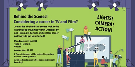 Behind the Scenes! Career Exploration in TV & Film tickets
