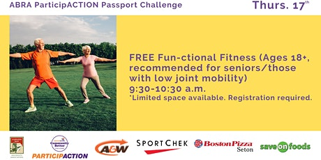 ABRA ParticipACTION Passport Challenge FREE Fun-ctional Fitness (Ages 18+) tickets