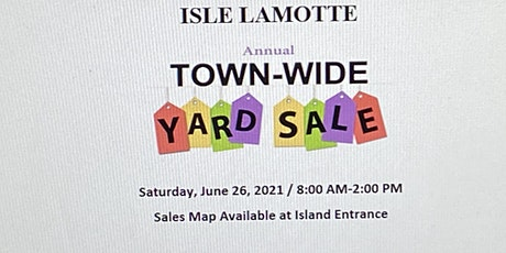 Isle LaMotte Town-Wide Yard Sale tickets
