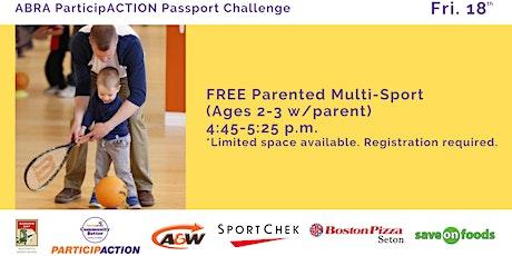 ABRA ParticipACTION Passport Challenge FREE Parented Multi-Sport (2-3) tickets