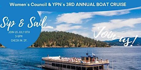 Sip & Sail: YPN and WCR of  Spokane & North Idaho Boat Cruise tickets