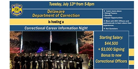 Delaware Department of Correction Career Information Night tickets