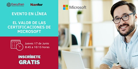 Evento online: El valor de las certificaciones de Microsoft entradas